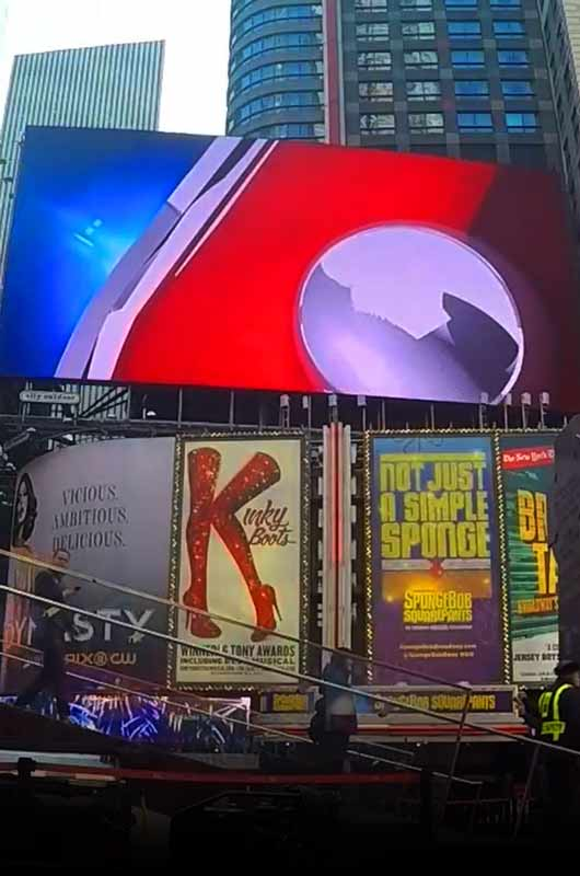 Video on Times Square